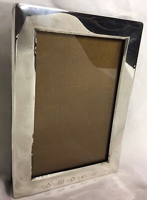 Solid Silver Photo Frame Jubilee Year 1977 Afn Large Hallmarks Design