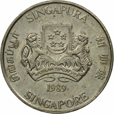 [#438716] Coin, Singapore, 20 Cents, 1989, British Royal Mint, EF(40-45)