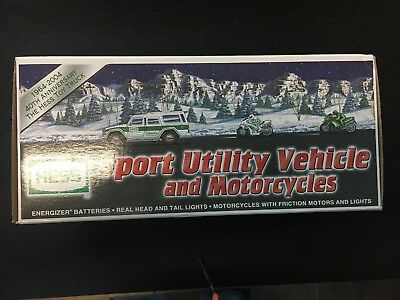 Hess 2004 Sport Utility Vehicle & Motorcycles 40th Anniversary - FAST FREE SHIP