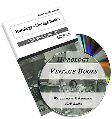 Vintage Watch Books CD Horology Horologist Clock Repair Tower Pocket Course #209