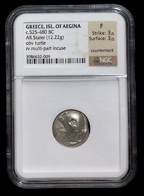 Greek Silver Stater from the Island of Aegina 525-480 BC  NGC F   2009