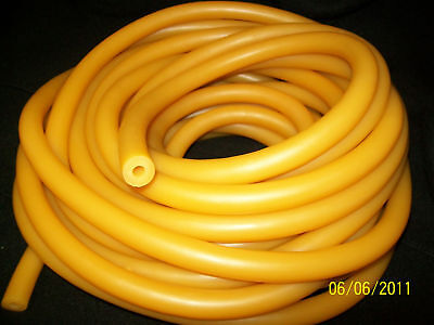 """50 Feet of very Thick Wall Latex Rubber Tubing 1/4"""" I.D x 3/16"""" wall x 5/8"""" O.D"""