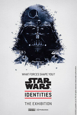STAR WARS IDENTITIES EXHIBITION Darth Vader Poster - LIMITED EDITION