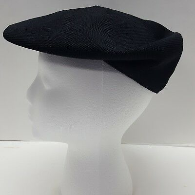 e5b927f8917dd Authentic Kangol Black Newsboy Cabbie Hat Cap Size S M Made in Great Britain