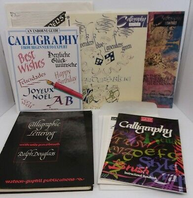 Lot 5 Vintage Calligraphy Books (Advanced, Practical Guide, Beginners to Expert)