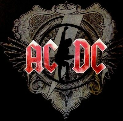 AC/DC T Shirt Large Black Ice Tour 2008 2009