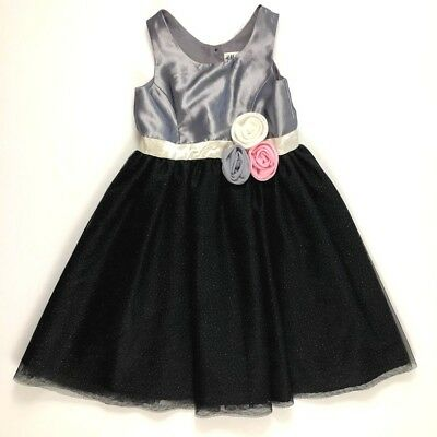 H&M Girls 5 6 Gray Pink Black Sparkle Dress Special Occasion Party Dress