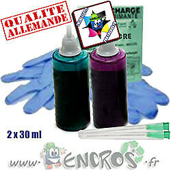 Recharge Kit Encre 2x30ML MAGENTA+CYAN LIGHT universelles pour BROTHER