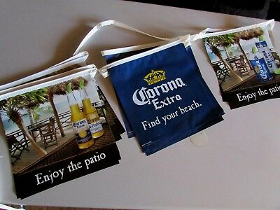 18' Corona Extra Bottle Find Your Beach Enjoy The Patio String Banner Beer sign