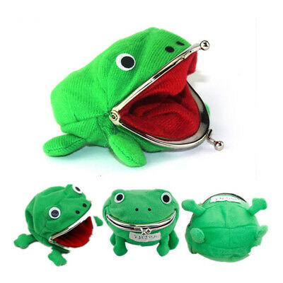 Cute Frog Shaped Coin Purse Mini Keychain Wallet Pouch Soft Plush Storage Purse