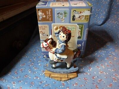 Enesco Raggedy Ann & Andy 864862 Our Friendship Leads to Happy Trails Rocking Ho