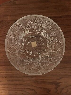 French Rene Lalique Crystal Pinsons Finches Birds Clear and Frosted Bowl