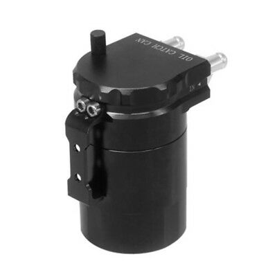 Black Aluminum Baffled Oil Catch Can Tank Reservoir Breather With Fittings Handy
