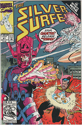 The Silver Surfer #67 Marvel 1991 An Infinity Gauntlet Crossover