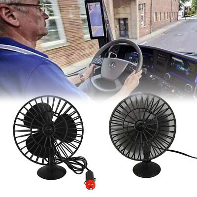 04A7 12V Mini Electric Fan Low Noise Suction Cup For Summer Plastic Car Supply B