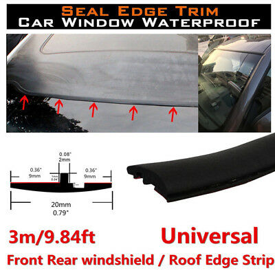3M Rubber Car Windshield Sunroof Soundproof Filler Window Seal Edge Weatherstrip