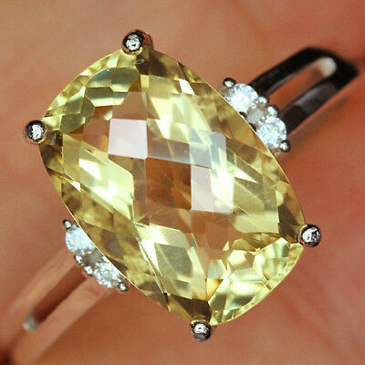 12.45Ct 100% Natural 18K Gold Plated Unique Lemon Citrine Faceted Ring UDQL51