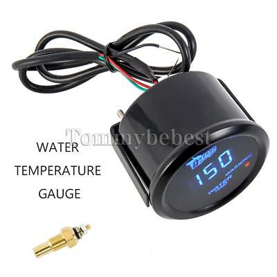 Universal Temperature Meter 52mm Car Auto Digital LED Water Temp Gauge Pointer .