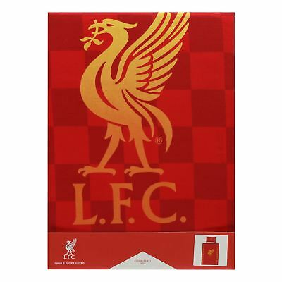 Liverpool FC Red Chequered Single Duvet LFC Official
