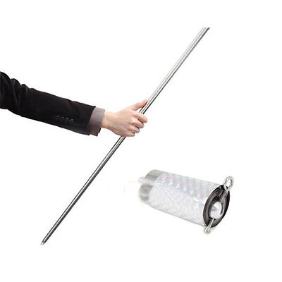 Silber Metall Zauberartikel Appearing Cane Wand Stick Stages Magic Trick Gimmick