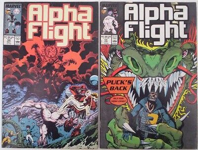 "1988. TWO x ""ALPHA FLIGHT"" comics. Vol.1 #'s 58 and 59. VG."