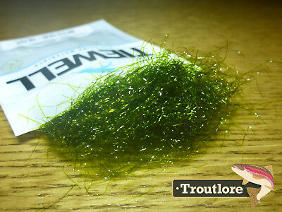 Olive Tiewell Weed Dubbing - New Fly Tying Material - Made In Australia
