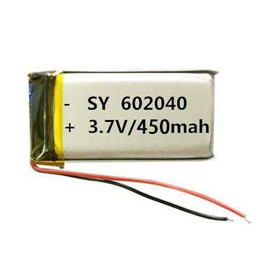 3.7V 450MAH 602040 Battery For GPS PDA Bluetooth Pen Mp3 Mp4 Rechargeable