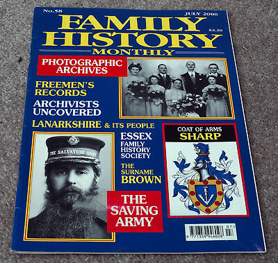 Family History Monthly – July 2000 – Freemen, Brown, Sharp, Saving Army