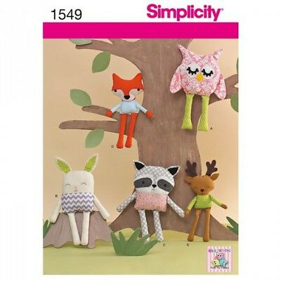 Woodland Stuffed Animals Craft Sewing Patterns 1549