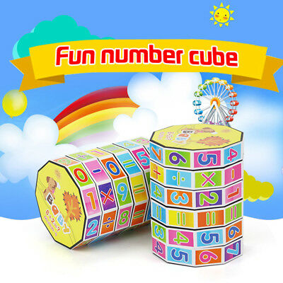 Novelty Children Kids Mathematics Numbers Magic Cube Toy Puzzle Game Gift Funny
