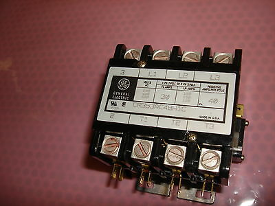 GE General Electric CR353AC4BH1C 30A Amp 4 Pole Starter Contactor - New