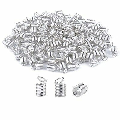 BronaGrand 150pcs Antiqued Brass Silvery Crimp Fasteners Leather Cord Ends Caps