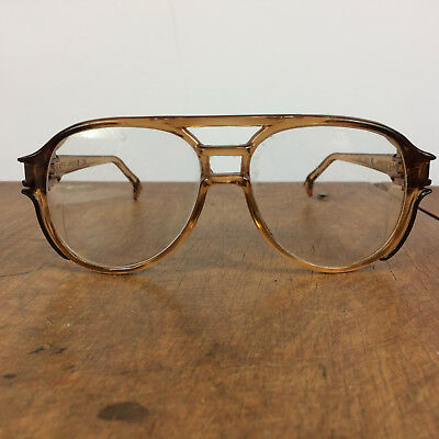 Vintage 70s AO American Optical Square Horn Rim Safety Glasses Goggles Frame