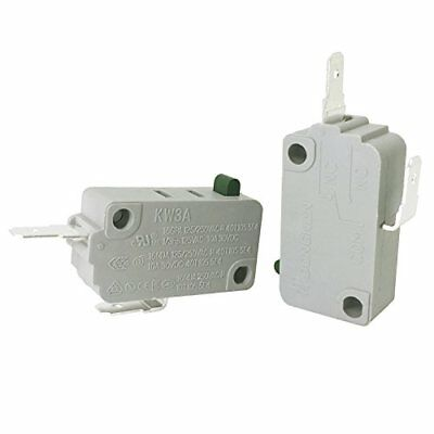 YOLISTIC 2Pcs KW3A NORMALLY CLOSE MICROWAVE OVEN DOOR MICRO SWITCH DR52