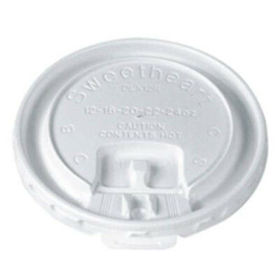 SOLO Cups DLX12R-00007 White Plastic Trophy Liftback and Lock Tab Lid 2,000/Case