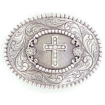 Nocona Jeweled Cross Belt Buckle