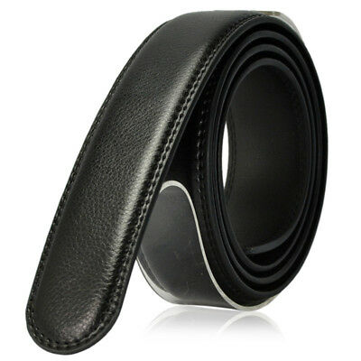 Rachet Click Genuine Leather Dress Belt for Men Without Buckle