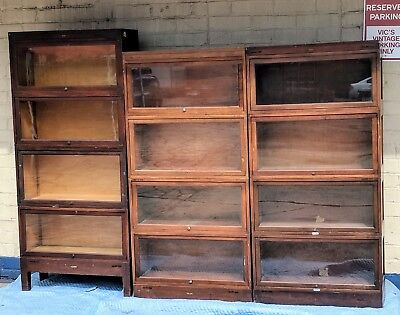 Antique Globe Wernicke 4 x 3 Stack Lawyers  Barrister Bookcase - SET OF 12 TOTAL
