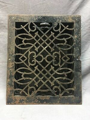 Antique Cast Iron Victorian Heat Grate Floor Register 8x10 Vtg Old   2-18C