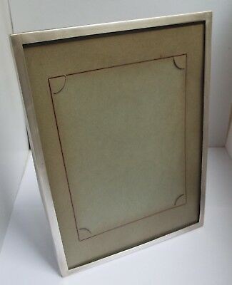 Handsome Large 8 Inch English Antique 1951 Solid Sterling Silver Photo Frame