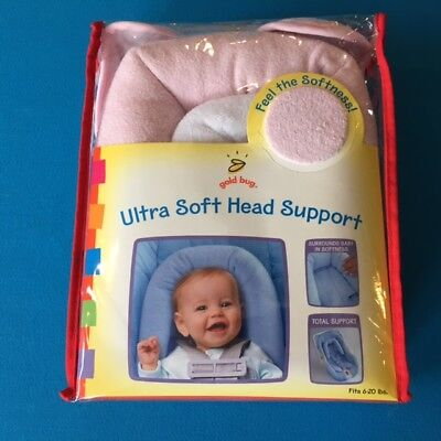 Gold Bug Ultra Soft Head Support in Pink fits 6-20 lbs NEW
