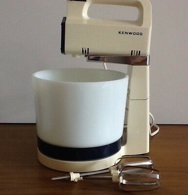 Vintage/Retro 70's Kenwood Chefette A340. Ceramic Bowl, Stand, Box & Instruction