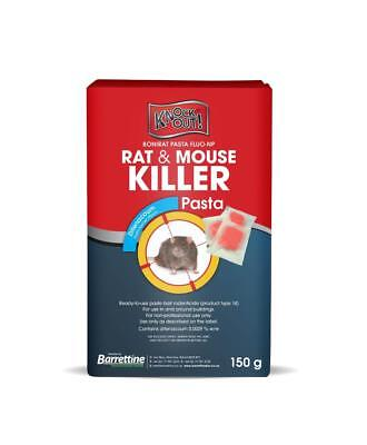 60 Rat Mouse Pasta Killer Poison Sachet Bait Bocks Mice Rodent Total Control