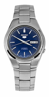 Seiko 5 SNK603 Men's Stainless Steel Blue Dial Day Date Automatic Watch
