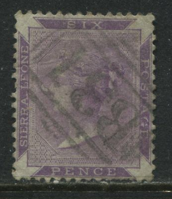 Sierra Leone QV 1874 1d bright violet used
