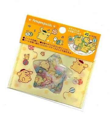 Sanrio Original PomPom Purin Kawaii Stickers Sack sticker flakes Japan