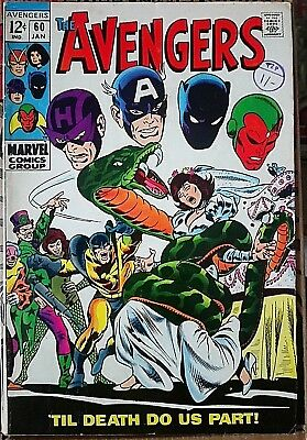 The Avengers # 60, Silver Age Classic, Nice Grade