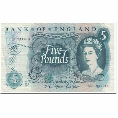 [#602081] Banknote, Great Britain, 5 Pounds, 1966, Undated (1966), KM:375b