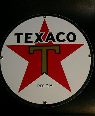 TEXACO STAR Gasoline.. Gas / Oil Porcelain advertising Sign
