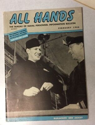 ALL HANDS BUREAU OF NAVAL PERSONNEL INFORMATION BULLETIN Magazine - Feb 1946